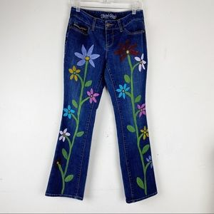 Faded Glory Custom Hand Painted Boot Leg Jeans
